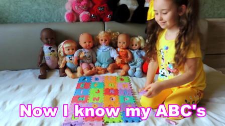 用童谣和儿童歌曲学习儿童英语字母表