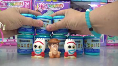 迪斯尼玩具总动员4压扁弹出玩具惊喜