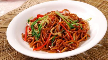 这才是上海炒面最正宗的做法,Q弹爽口,鲜嫩入味,5分钟就能学会