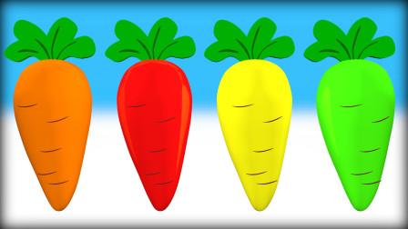 多彩胡萝卜 学习各种蔬菜水果 早教益智 健康 快乐 幸福 幸运 感恩 爱心 祝福  小猪佩奇 熊出没 缇娜托尼