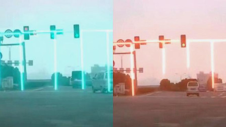 第一次见这样的红绿灯,真是长见识了,网友:贫穷限制了我的想象
