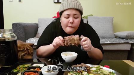 没有高颜值和优雅吃相,这个大口吃肉的韩国吃播妹子,依然吸粉无数!