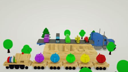茶壶给汽车,挖掘机,拖拉机,卡车,救火车穿上不一样颜色衣服!