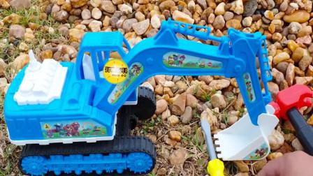 芭比娃娃用工具组装工程车挖掘机和飞机