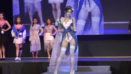 十二星座主题模特內衣秀,天使翅膀虽然漂亮但驾驭不好也会出意外