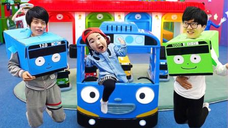 宝蓝儿童亲子萌宝乐园!和爸爸一起乘坐巴士去仁川科学馆!