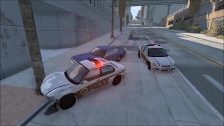 车祸模拟:海岸警方追捕导致车祸事故测试