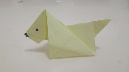 超萌的折纸小狗,简单易学,幼儿园的小朋友们都喜欢