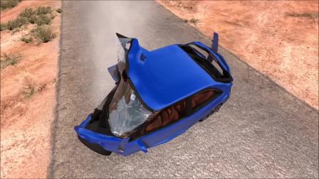 车祸模拟:高速快速行驶导致车祸事故