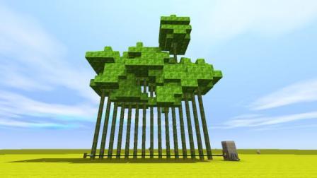 迷你世界:自动切竹子教学 比斧头还快 一次砍十五颗