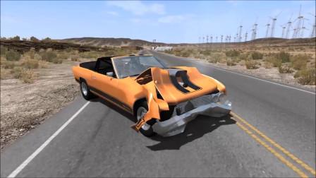 车祸模拟:高速赛车失败碰撞事故