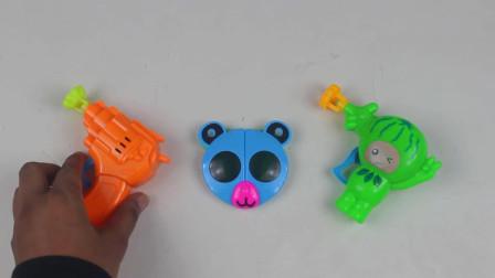 把儿童泡泡玩具枪带有有趣的熊猫太阳镜泡泡