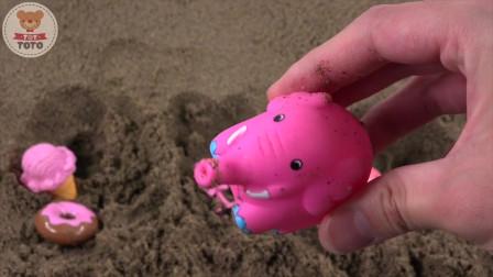 粉红玩具聚在一起植物粉红种子学习颜色字母和单词
