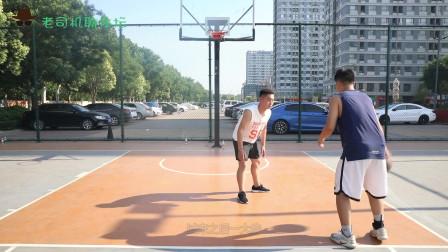 小白基础教学技巧,教你欧洲步上篮动作,过人技巧的锻炼