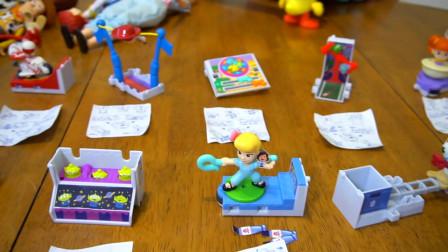 麦当劳欢乐餐玩具总动员4玩具全套杜克卡波姆叉子盖比巴兹玩具建造房车