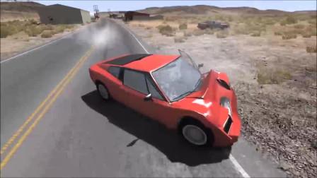 车祸模拟:十字路口撞车事故模拟,开头5秒有惊喜