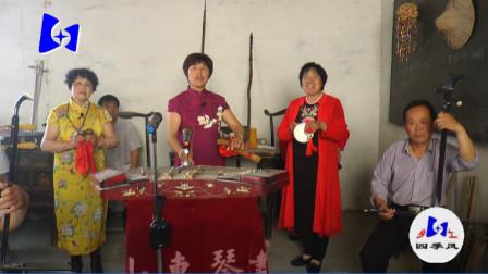 民间艺人演唱山东琴书《游西湖》