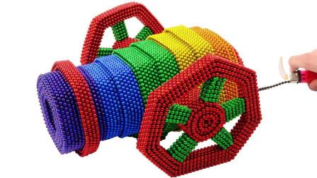 牛人用巴克球建造了一座古代的大炮,相似度能打多少分?
