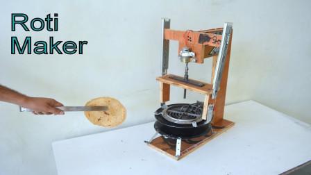 DIY自动烙饼机,有点意思