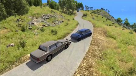 车祸模拟:石头掉落导致多车撞车事故