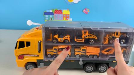工程车开箱玩具视频