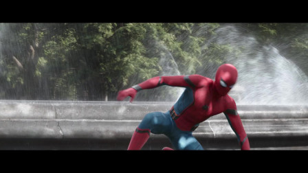 复仇者联盟3:无限战争-钢铁侠激战中,小蜘蛛登场,二人配合天衣无缝