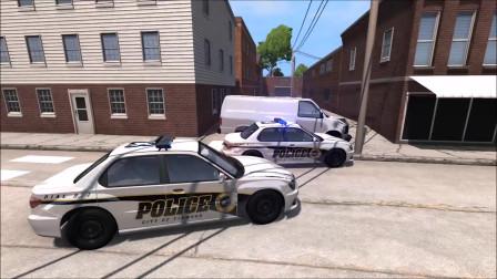 车祸模拟:警方追捕车祸事故模拟
