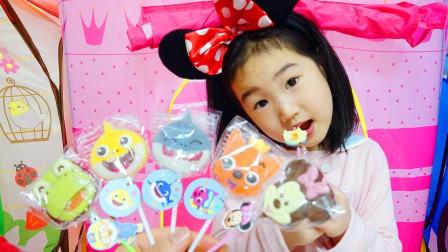 宝蓝儿童亲子萌宝乐园!宝蓝拥有好多的巧克力棒棒糖!