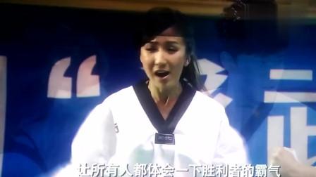曾小贤参加跆拳道比赛,对手的身材貌似都有那么一丢丢的不对劲吧