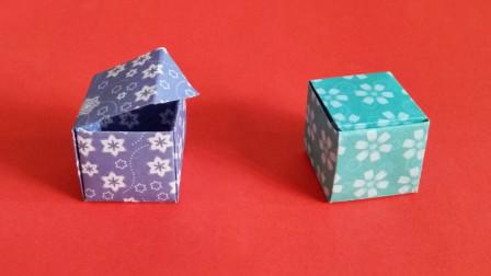 一分钟一张纸,能有一个带盖的盒子,好神奇的折纸,看完你也会