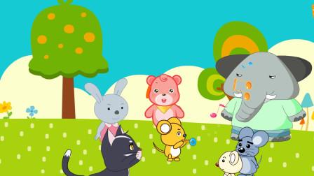 儿童讲故事 山羊老师教音乐,小老鼠吹喇叭很认真!