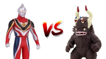 满满玩具秀E01:盖亚奥特曼为了保护小猪乔治,大战怪兽米库拉斯