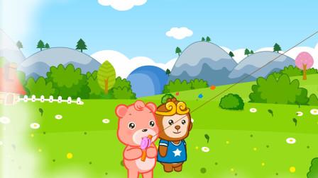 儿童故事 等春天,躺在草地等春天,动物世界的青青草地可以滚来滚去~