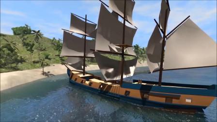 车祸模拟:用汽车攻击海盗船模拟