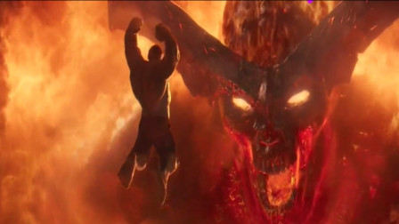 绿巨人看到火焰巨人瞬间不淡定,没想到直接冲上去,下一秒傻眼了