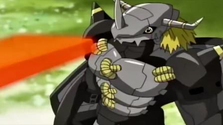 三个完全体VS黑暗战斗暴龙兽