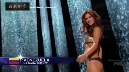 美国世界小姐选美大赛总决赛,身材绝佳,容颜靓丽