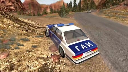 BeamNG车祸模拟:高速警车追捕