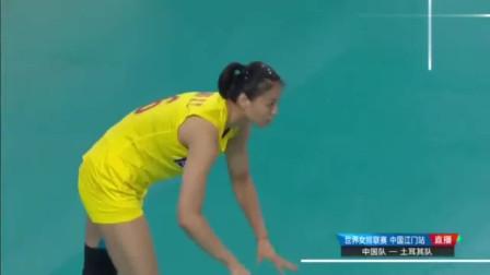 回顾首局最后时刻朱婷替补登场,帮助中国女排战胜土耳其