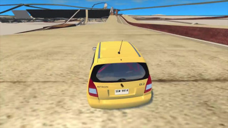 BeamNG drive:汽车疯狂跑酷撞车