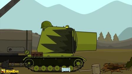 坦克世界动画:会变身的突击虎,头好大!【中文字幕】