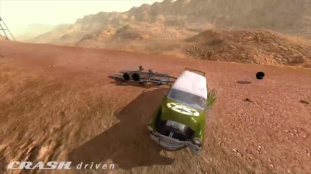 BeamNG Drive:大客车翻滚碰撞事故模拟