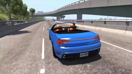 BeamNG Drive:巨大的钉条堆积物碰撞