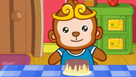 儿童故事:最珍贵的礼物,这份巧克力蛋糕又甜又香,好想全部吃掉!