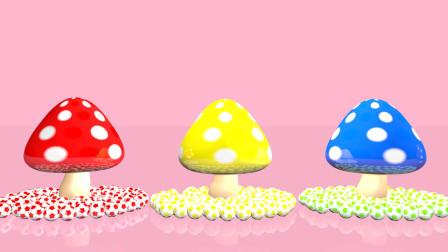 多彩蘑菇一起学习中英文颜色 早教 益智 创意 感恩 爱心 祝福 健康 快乐 幸运 幸福 小猪佩奇 熊出没 奇奇