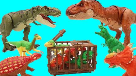 大恐龙帮助恐龙妈妈找回小恐龙
