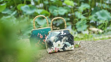 唐兔兔 荷花复古中国风竹子提手材料包