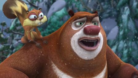 熊出没大冒险第二百一十五期:熊大喊光头强打雪仗,光头强很厉害