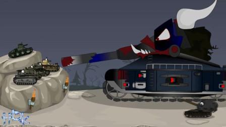坦克世界动画:KV44和利维坦的会面!不说话直接开一炮!