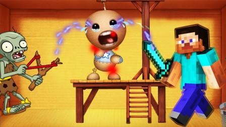 迷你君我的世界 木偶人VS僵尸史蒂夫团?